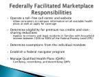 federally facilitated marketplace responsibilities