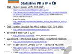statistiky pb a ip v r