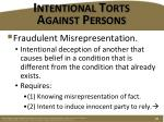 intentional torts against persons13
