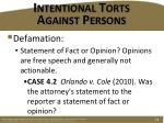 intentional torts against persons5