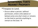 intentional torts against property