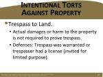 intentional torts against property1