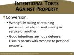 intentional torts against property3