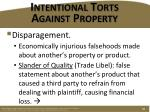 intentional torts against property4