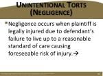 unintentional torts negligence