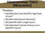 unintentional torts negligence1