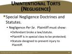 unintentional torts negligence12