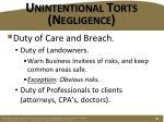 unintentional torts negligence3