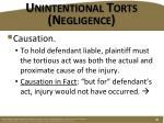 unintentional torts negligence4