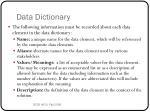 data dictionary2
