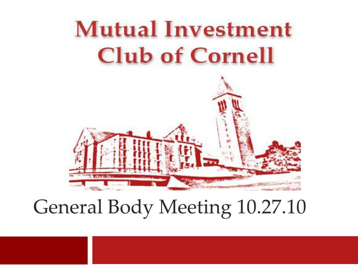 general body meeting 10 27 10 n.