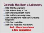 colorado has been a laboratory