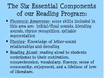 the six essential components of our reading program