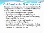civil penalties for noncompliance