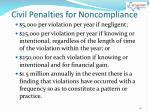 civil penalties for noncompliance1
