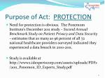 purpose of act protection