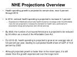 nhe projections overview