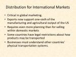 distribution for international markets