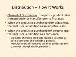 distribution how it works