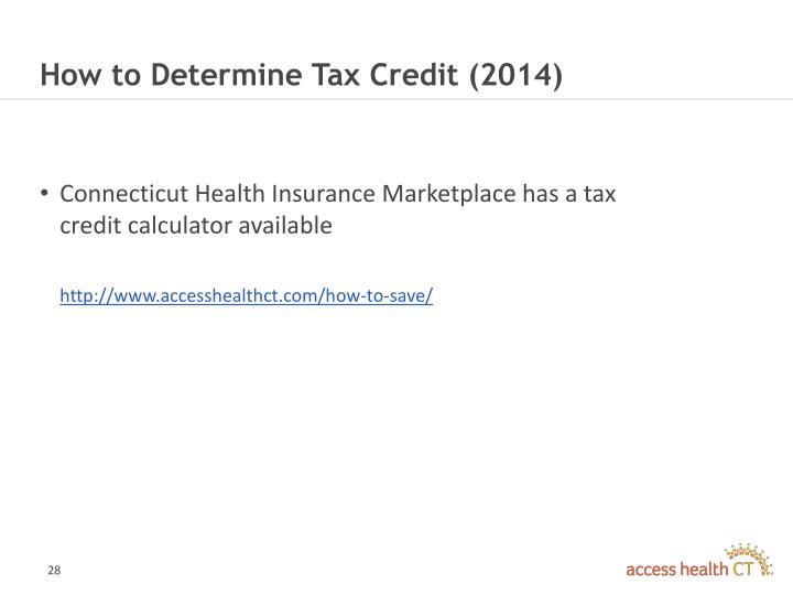 How to Determine Tax Credit (2014)
