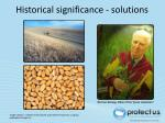 historical significance solutions