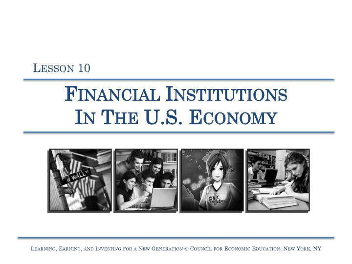 financial institutions in the u s economy n.