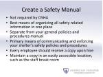 create a safety manual1