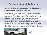 driver and vehicle safety