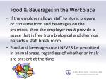 food beverages in the workplace