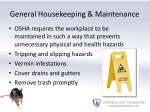 general housekeeping maintenance