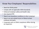 know your employees responsibilities