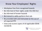 know your employees rights