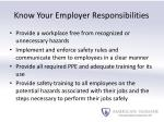 know your employer responsibilities