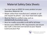 material safety data sheets1