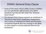 osha s general duty clause
