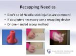 recapping needles