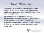 record maintenance