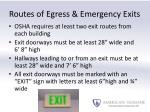 routes of egress emergency exits1