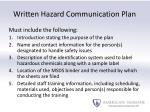 written hazard communication plan