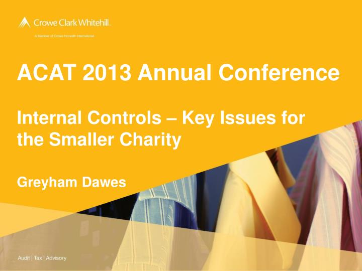 acat 2013 annual conference n.