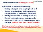 charity commission running your charity