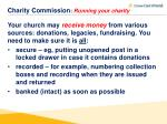 charity commission running your charity2