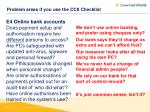problem areas if you use the cc8 checklist2