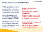problem areas if you use the cc8 checklist4