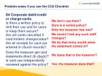 problem areas if you use the cc8 checklist5