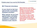 problem areas if you use the cc8 checklist6