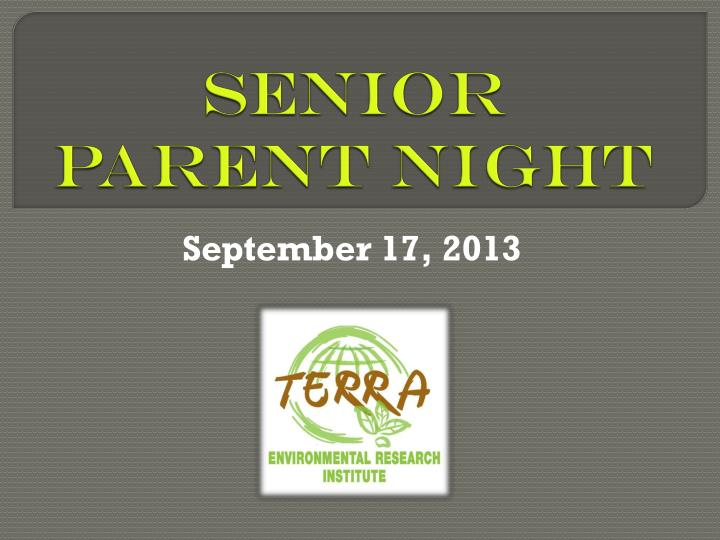 senior parent night n.