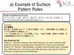 a example of surface pattern rules