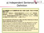 a independent sentence for definition3