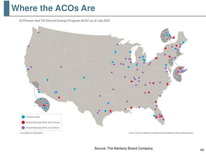 Where the ACOs Are